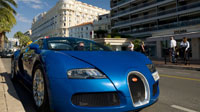 Обои синего Bugatti Veyron (6шт.)