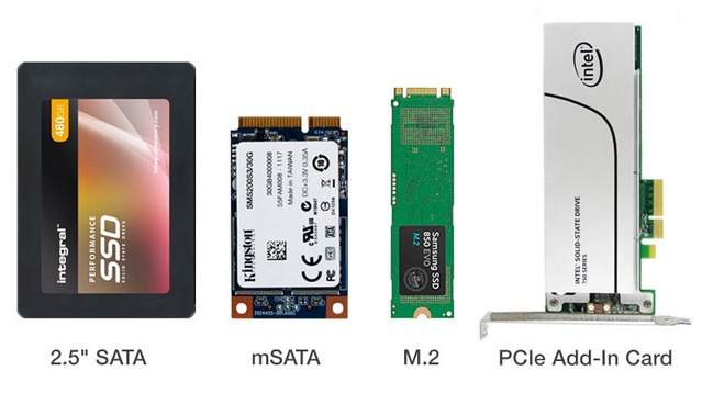 SSD form factors - choice